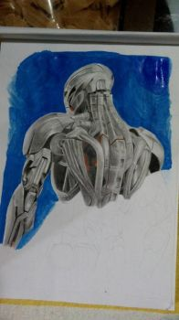 drawing ultron by katsteve