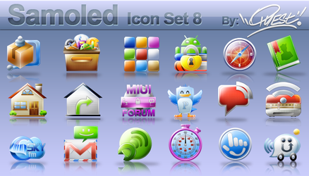 Samoled: icon set 8 by jquest68