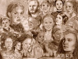 Star Wars Collage by AngelinaBenedetti