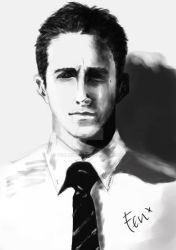 Ryan Gosling by fenlicious
