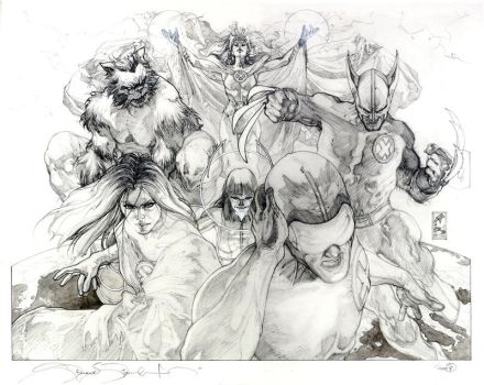 ASTONIS.XMEN  25 cover pencils by simonebianchi