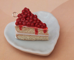 Cherry Covered Cake Charm by DeliciousTrickery