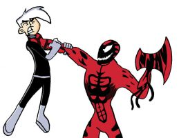 Danny Phantom vs. Carnage by BigJohnnyCool