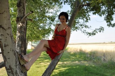 117+1 Goofy kid, climbing a tree in a dress by JustmeTD