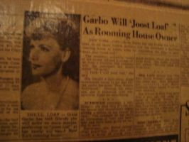 Joost Loaf with Greta Garbo by itsayskeds