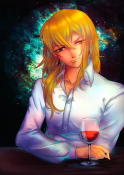 Space and wine by april-ame