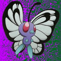Butterfree (Oil Painting Color)