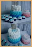 Baby Boy Shower/Big Sister Cake/Cupcakes by InkArtWriter