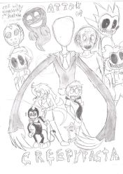Attack of Creepypasta (and legends) by RedMaster3542