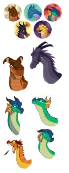 Wings of Fire doodles by Simatra