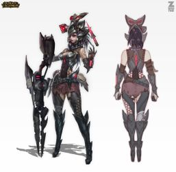 Caitlyn Headhunter Official Concept Zeronis by Zeronis