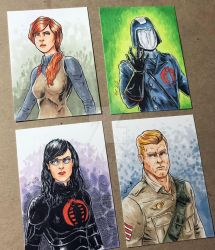 Gi Jie Sketch cards by shaotemp