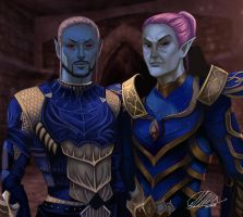 Commission: Veralyn and Verrik by HalChroma