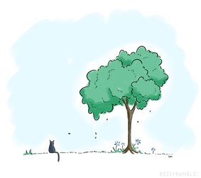 The tree of calm by BeckyBumble