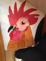 (finished) painting of temmy on the wall by Patty-Chickens