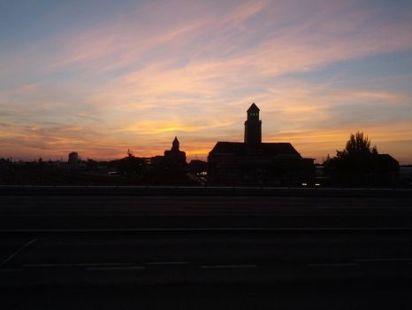 A part of Berlin at sunset by Andural