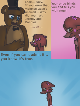 Fnaf silly comic - Foxys Pride part 10 by Maria-Ben