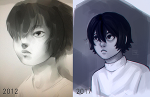 1005 [2012 vs 2017] by DamaiMikaz
