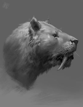 Smilodon head by RAPHTOR