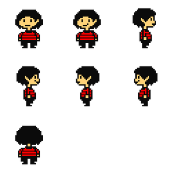 (Badoctale) Aspi The Human (Sprite Sheet) by Mac-The-Sprite-Maker