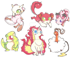 Pokemon Hybrid Adoptables 7 CLOSED