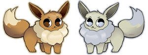 Eevees! (Shiny and Normal) by jealter