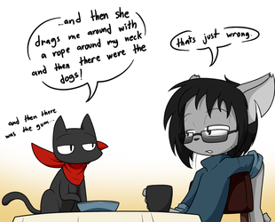 Cafe Cats by Sandwich-Anomaly