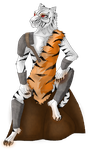 White tiger barbarian form +150 WATCHERS! by Wol4ica
