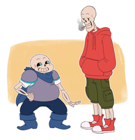 Underswap!Skelebros by ohheyimpaola