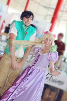 Tangled! Eugine and rapunzel cosplay by MissWeirdCat