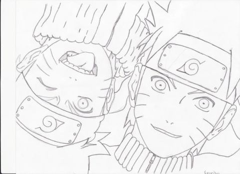 young and old naruto by franky123