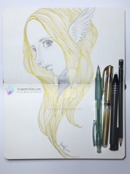 The angel hair gold by origamitales