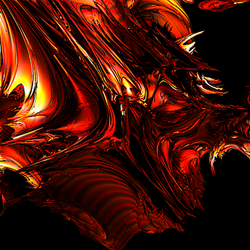 Abstract red dragon by Naarok0fKor