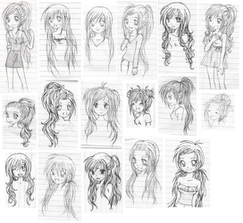 Different Hairstyles by MarikaGirl