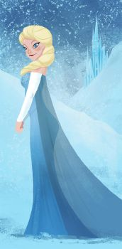 Frozen- Elsa by TimothyAndersonArt