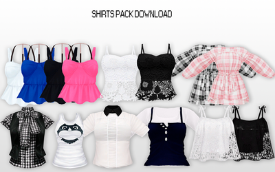 MMD Fem Shirts Pack DL by UnluckyCandyFox