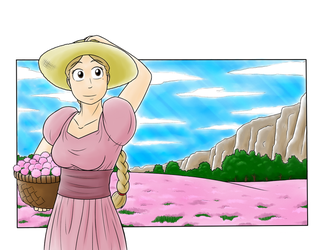 Belle In the Fields by Tangent-Valley