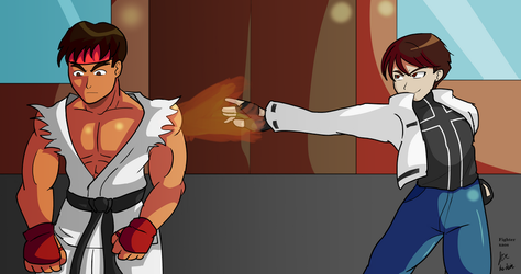 Kyo challenges Ryu by fighterxaos
