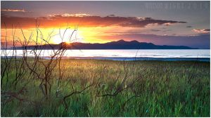 Stansbury Island Sunset by tourofnature