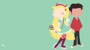 Star vs the forces of evil - Minimalist Wallpaper by Meleusou