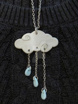 Rain Cloud Necklace by right2bearcharms