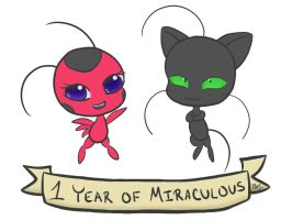 1 Year of Miraculous by Nyisne