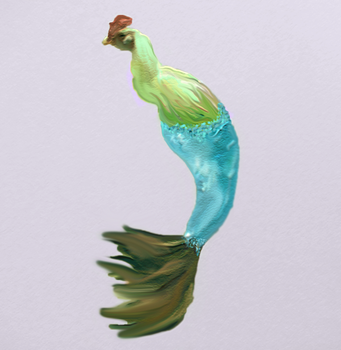Chicken Mermaid by PaintFeathers