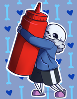 Sans x Ketchup OTP by danlimlim
