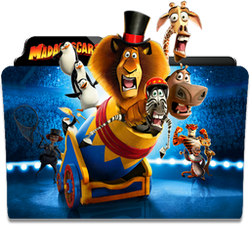 Madagascar 3: Europe's Most Wanted Folder Icon by dahlia069