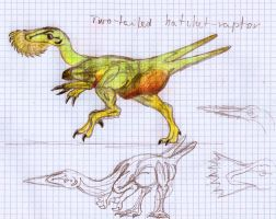 Two-tailed hatchet-raptor by PeteriDish
