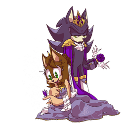 Rainbow + Mephiles | Royalty Redraw by that-rae-of-sunshine