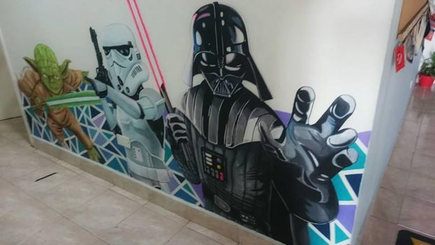 Star Wars Mural by Deleitesemcor