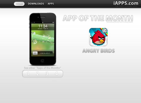iApps Website Design by TrackyTrackie94