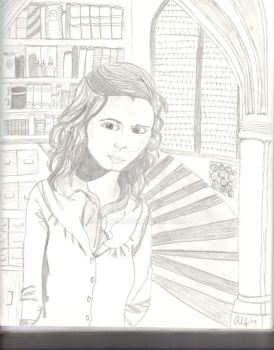 At the Library-Hermione by Kyouen